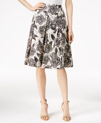 Charter Club Floral-Print Pleated Skirt, Only at Vogily