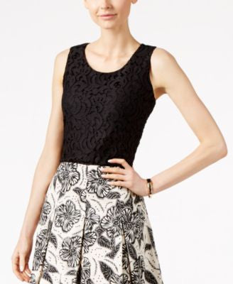 Charter Club Sleeveless Lace Top, Only at Vogily
