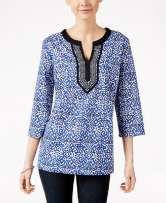 Charter Club Printed Tunic, Only at Vogily