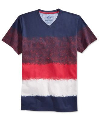 American Rag Men's Ombré Stripe V-Neck T-Shirt, Only at Vogily