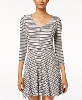 American Rag Striped Fit & Flare Dress, Only at Vogily