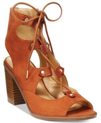 Circus by Sam Edelman Kiera Lace-Up Block-Heel Sandals