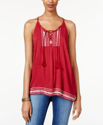 American Rag Embroidered Sleeveless Top, Only at Vogily