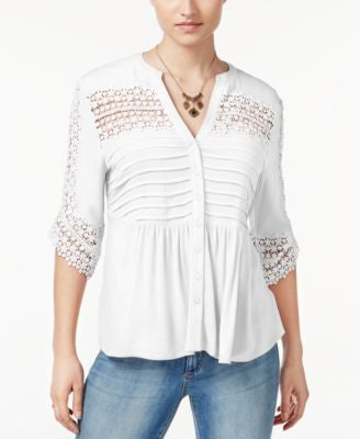 American Rag Lace Babydoll Top, Only at Vogily
