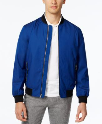 Alfani Men's Zip-Front Water Resistant Bomber Jacket
