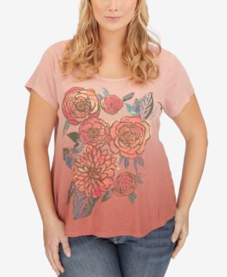 Lucky Brand Plus Size Floral-Print T-Shirt