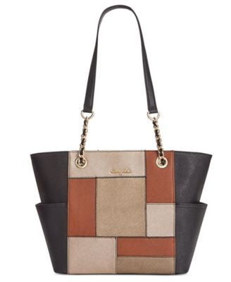 Calvin Klein Patchwork Saffiano Leather Tote