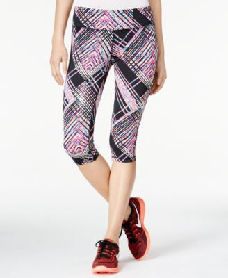 Material Girl Active Juniors' Printed Cropped Leggings, Only at Vogily