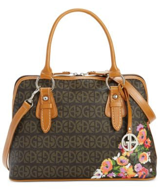 Giani Bernini Floral Block Signature Dome Satchel, Only at Vogily