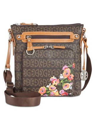 Giani Bernini Floral Block Signature Crossbody, Only at Vogily