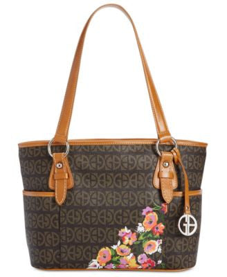 Giani Bernini Floral Block Signature Tulip Tote, Only at Vogily