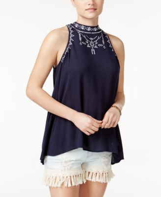 American Rag Embroidered High-Low Top, Only at Vogily