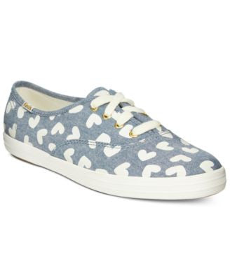 Keds Women's Chambray Hearts Lace-Up Sneakers
