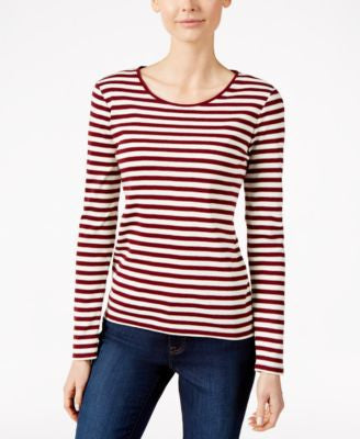 Charter Club Long-Sleeve Striped Top, Only at Vogily