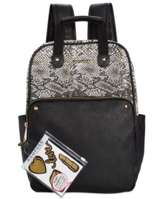 Rampage Customizable Canvas Colorblock Backpack with Stickers, Only at Vogily