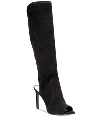 Nine West Lettie Peep-Toe Knee-High Boots