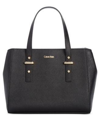 Calvin Klein Small Saffiano Crossbody Satchel