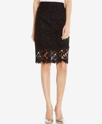 Vince Camuto Floral-Lace Pencil Skirt