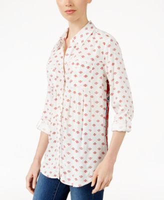 Style & Co. Petite Printed Button-Front Shirt, Only at Vogily