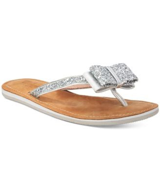 kate spade new york Icarda Glitter Bow Sandals