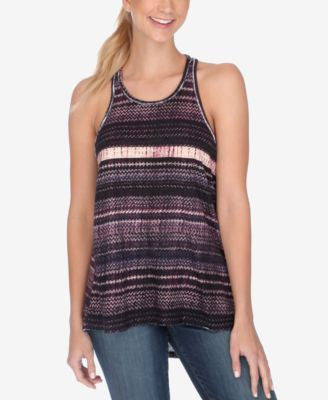 Lucky Brand Printed Racerback Swing Top