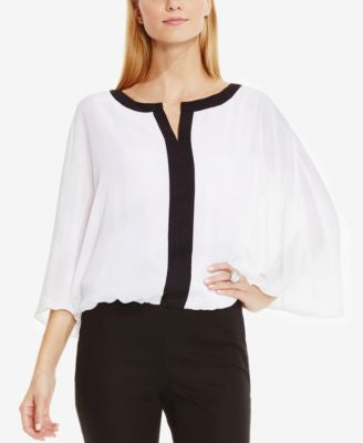 Vince Camuto Colorblocked Batwing-Sleeve Blouse