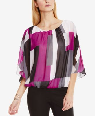 Vince Camuto Printed Poncho Blouse