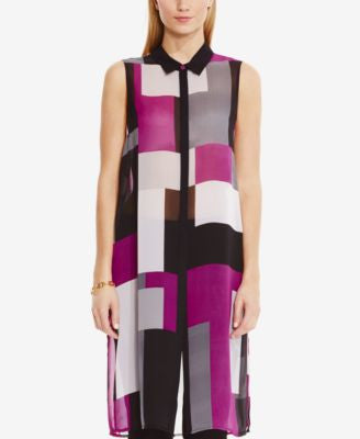 Vince Camuto Sleeveless Colorblocked Tunic