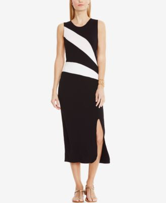 Vince Camuto Sleeveless Colorblocked Maxi Dress