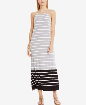 Vince Camuto Striped Colorblocked Maxi Dress