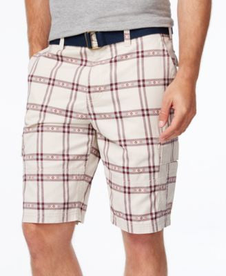 American Rag Men's Southwest Classic-Fit Plaid Cargo Shorts, Only at Vogily