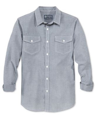 American Rag Men's Pick-Stitch Long-Sleeve Shirt, Only at Vogily