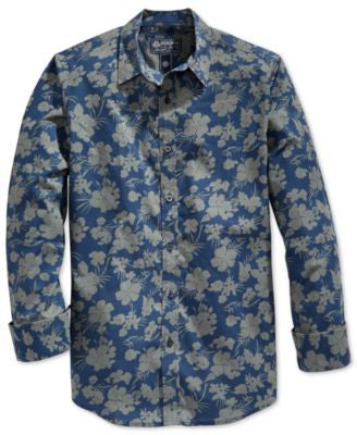 American Rag Men's Floral-Print Long-Sleeve Shirt, Only at Vogily