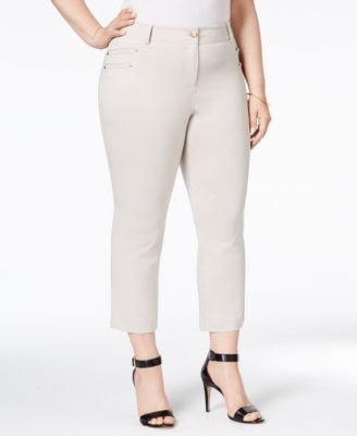 Style & Co. Plus Size Embellished Capri Pants, Only at Vogily