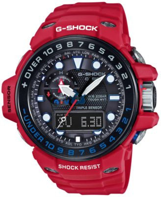 G-Shock Men's Analog-Digital Gulfmaster Red Resin Strap Watch 45x56mm GWN1000RD-4A