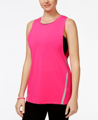 Jessica Simpson The Warm Up Juniors' Layered Sports Bra Tank Top, Only at Vogily