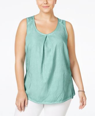 Junarose Plus Size Pleated Tank Top