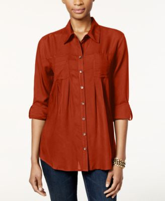 Style & Co. Pleated Shirt, Only at Vogily