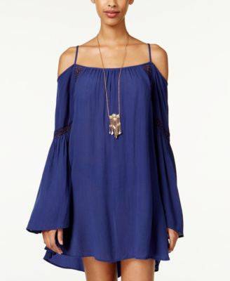 American Rag Cold-Shoulder Shift Dress, Only at Vogily