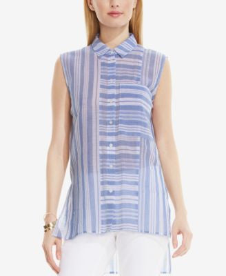 Vince Camuto Striped Sleeveless Shirt