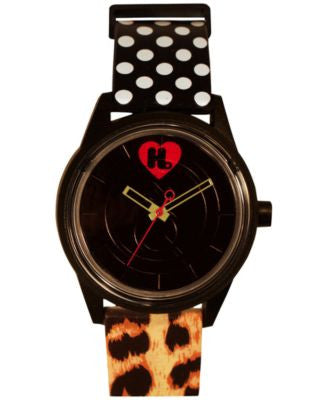 Harajuku Lovers Unisex Animal Print Designed by Gwen Stefani Printed Strap Watch 40mm HL2614
