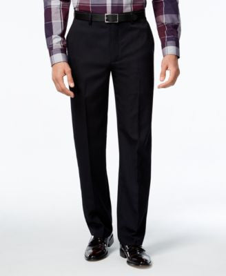 Alfani Men's Flat-Front Striped Pants