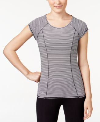 Calvin Klein Performance Striped Cutout Back T-Shirt