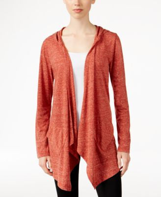 Style & Co. Drape-front Hooded Knit Jacket, Only at Vogily