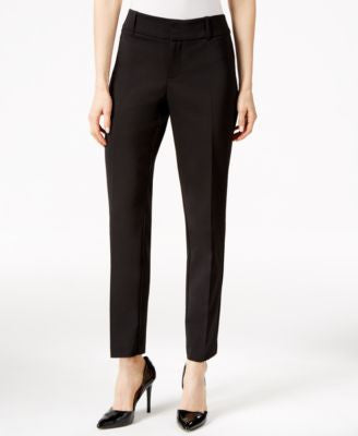 Charter Club Polished Stretch Extend Tab Slim Ankle Pants, Only at Vogily