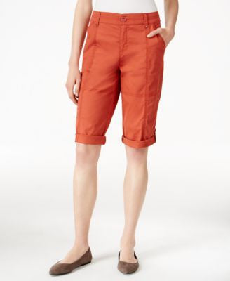 Style & Co. Petite Cuffed Skimmer Shorts, Only at Vogily
