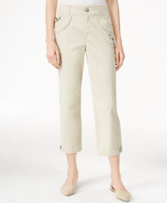 Style & Co. Petite Studded Cropped Capri Pants, Only at Vogily