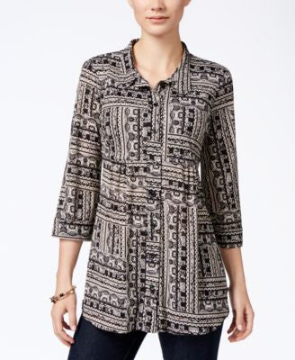 Style & Co. Petite Printed Shirt, Only at Vogily