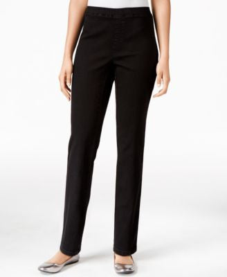 Karen Scott Petite Pull-On Denim Pants, Only at Vogily