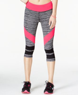 Material Girl Active Juniors' Game On Graphic Cropped Leggings, Only at Vogily